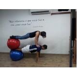 aula de pilates com a bola Jardim Vera Cruz