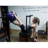 aula de pilates com bola